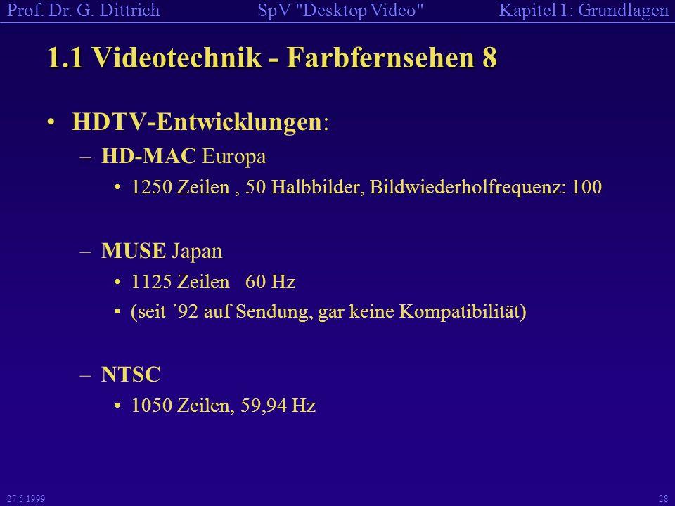 1.1 Videotechnik - Farbfernsehen 8