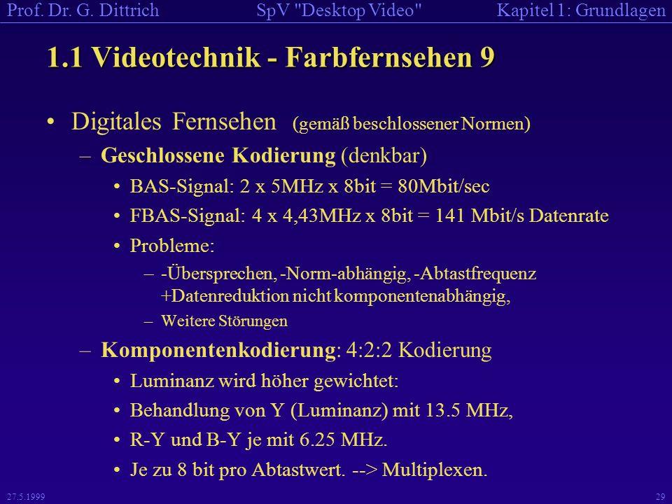 1.1 Videotechnik - Farbfernsehen 9