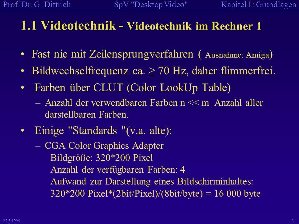 1.1 Videotechnik - Videotechnik im Rechner 1