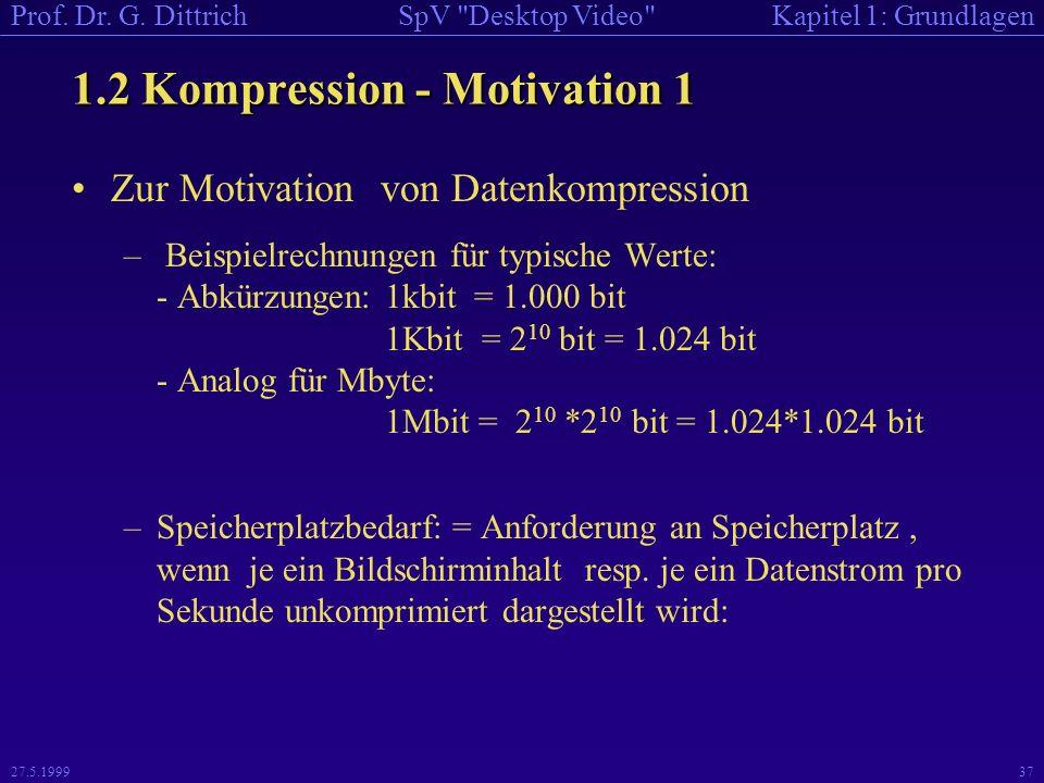 1.2 Kompression - Motivation 1
