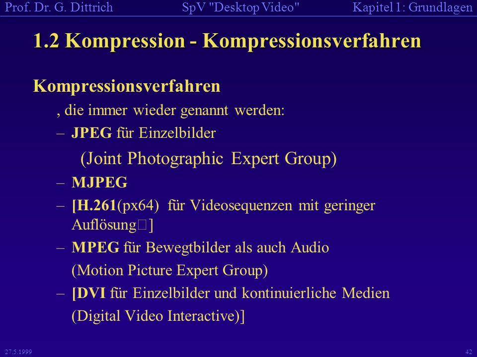 1.2 Kompression - Kompressionsverfahren