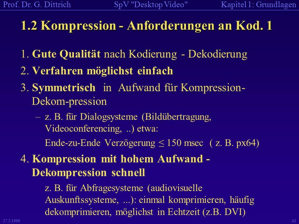 1.2 Kompression - Anforderungen an Kod. 1