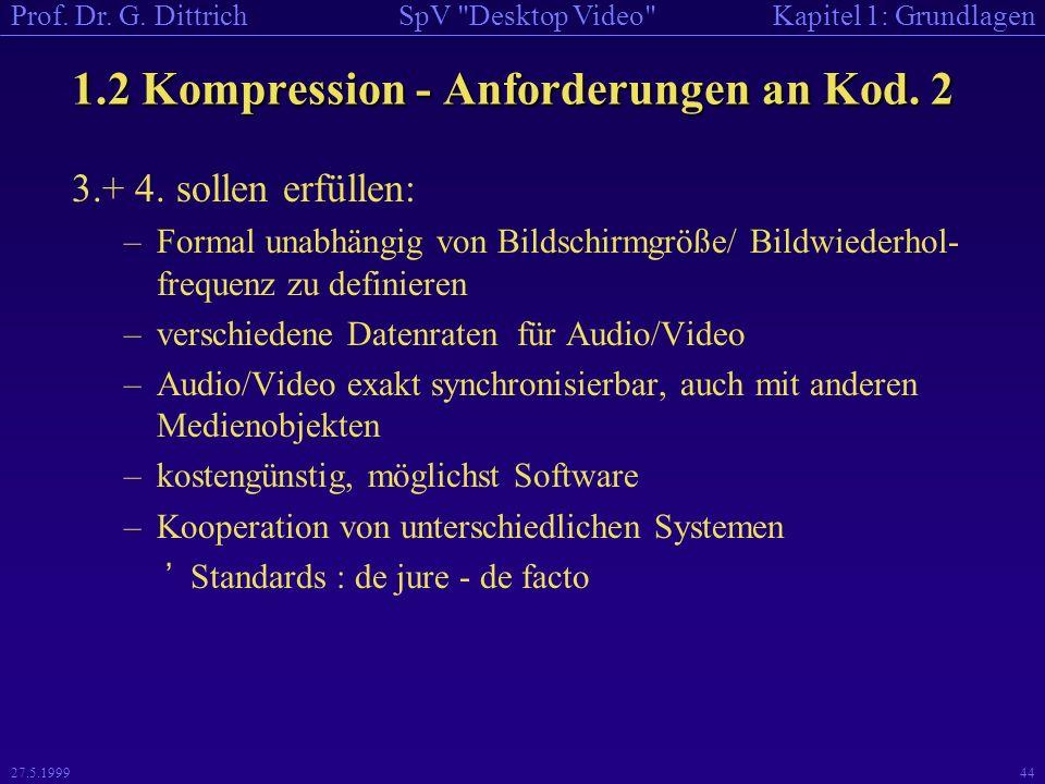 1.2 Kompression - Anforderungen an Kod. 2