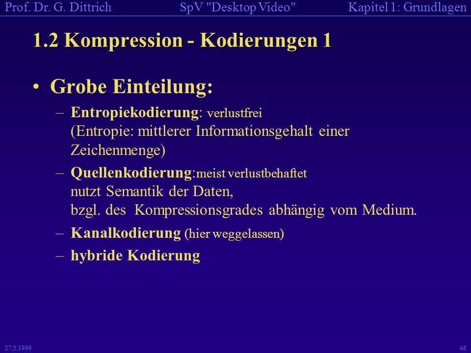 1.2 Kompression - Kodierungen 1