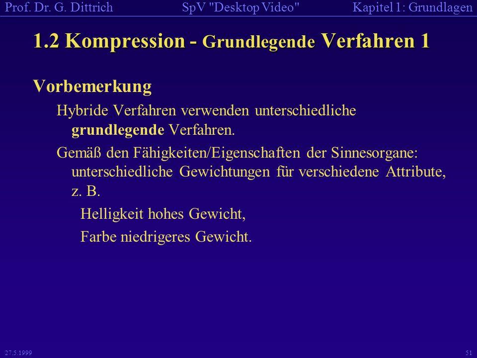 1.2 Kompression - Grundlegende Verfahren 1