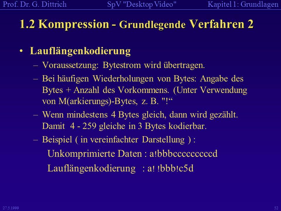 1.2 Kompression - Grundlegende Verfahren 2