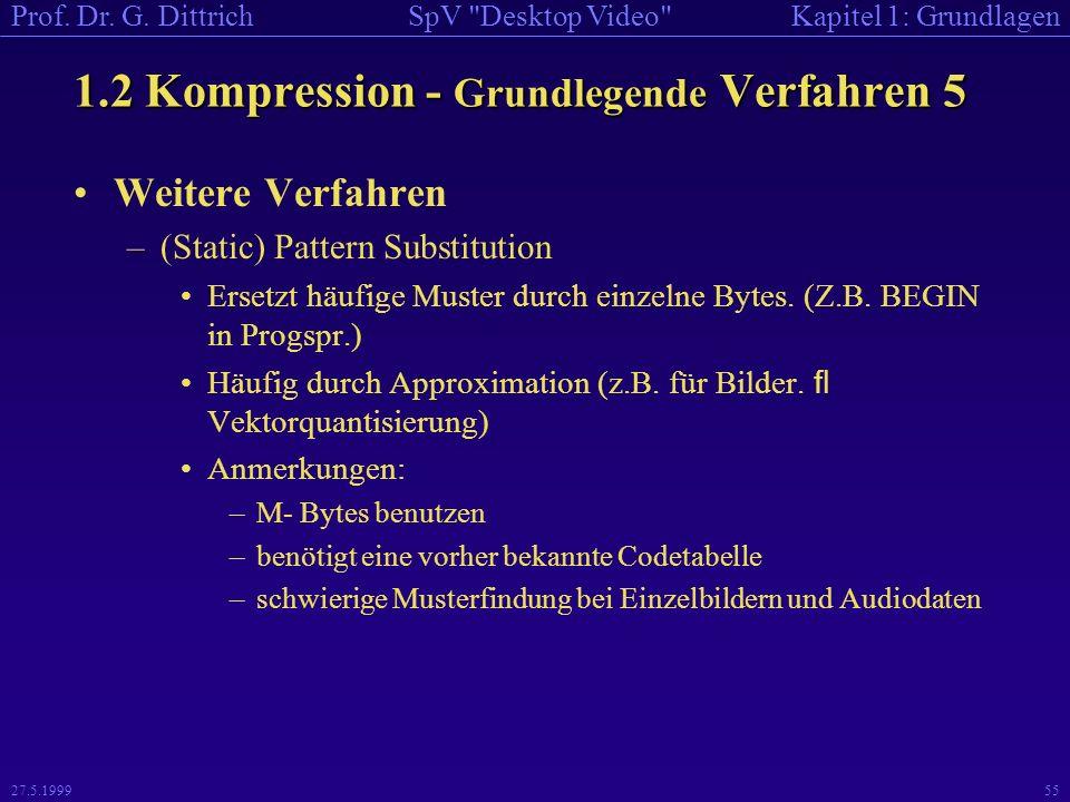 1.2 Kompression - Grundlegende Verfahren 5