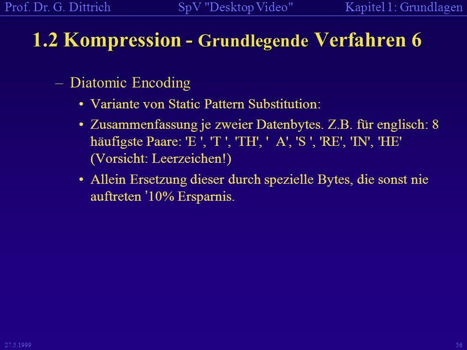 1.2 Kompression - Grundlegende Verfahren 6