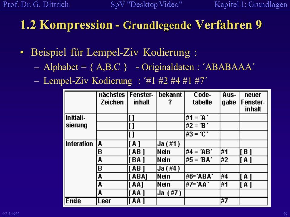 1.2 Kompression - Grundlegende Verfahren 9