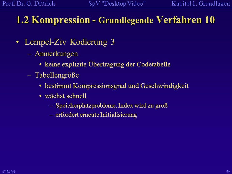 1.2 Kompression - Grundlegende Verfahren 10