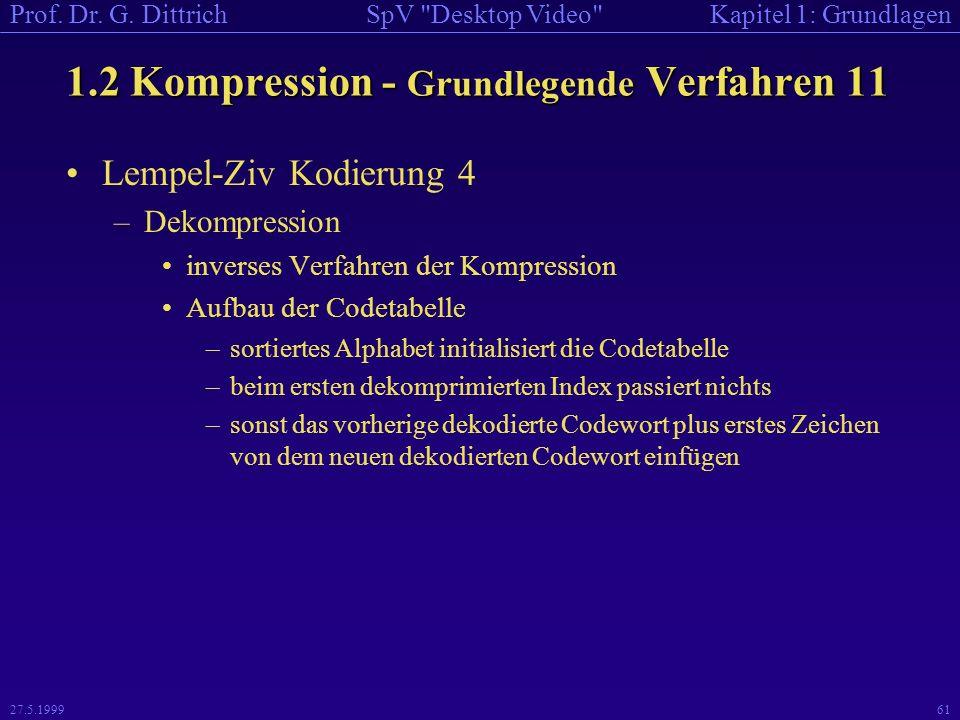 1.2 Kompression - Grundlegende Verfahren 11