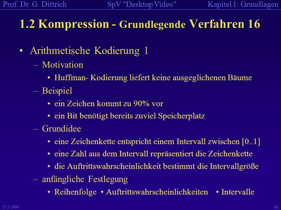 1.2 Kompression - Grundlegende Verfahren 16