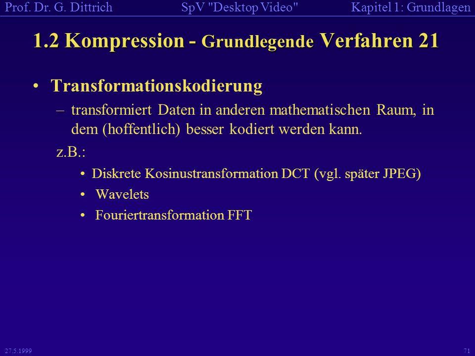 1.2 Kompression - Grundlegende Verfahren 21