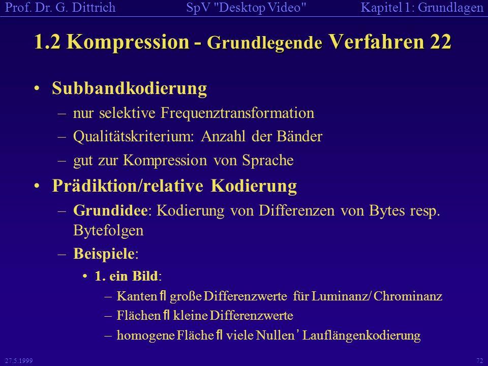 1.2 Kompression - Grundlegende Verfahren 22