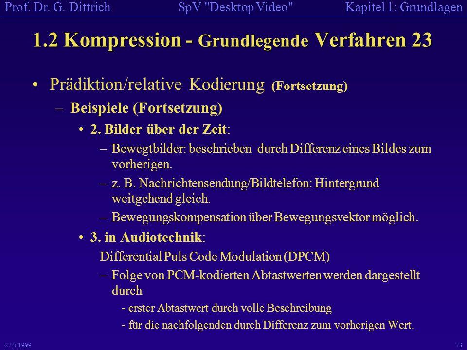 1.2 Kompression - Grundlegende Verfahren 23