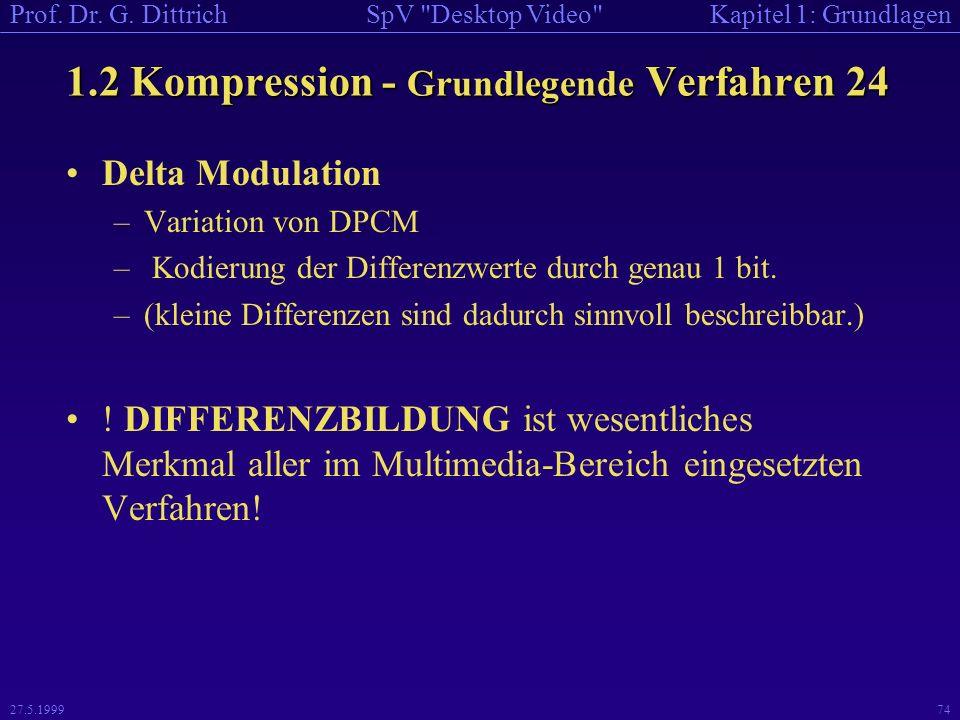 1.2 Kompression - Grundlegende Verfahren 24