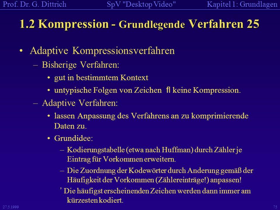 1.2 Kompression - Grundlegende Verfahren 25