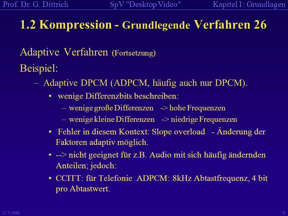 1.2 Kompression - Grundlegende Verfahren 26