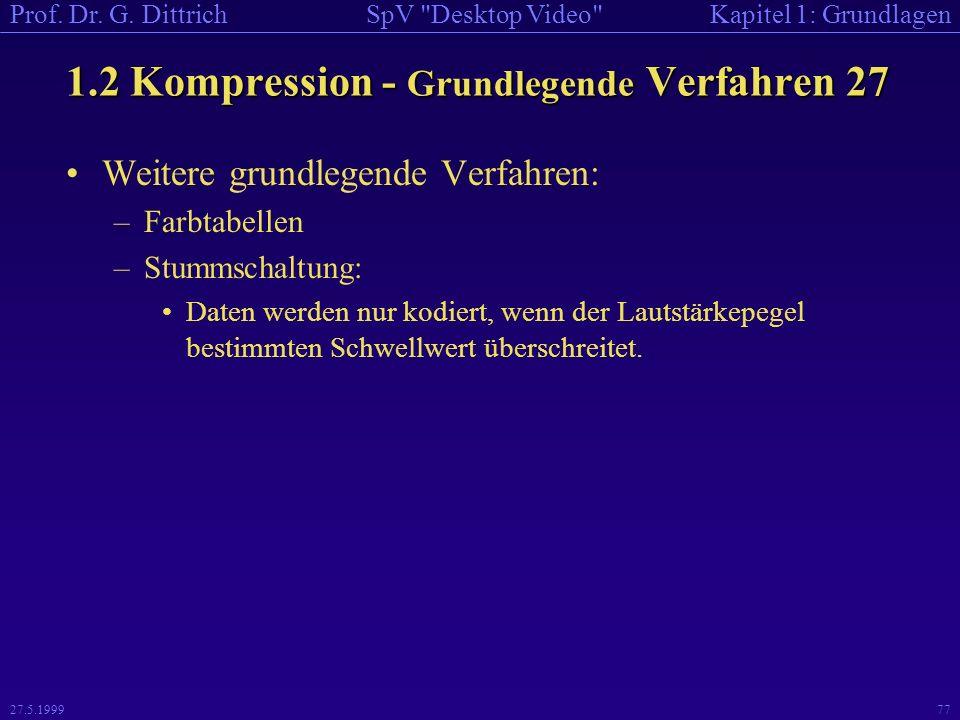 1.2 Kompression - Grundlegende Verfahren 27