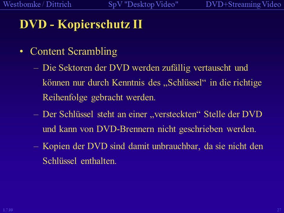 DVD - Kopierschutz II Content Scrambling