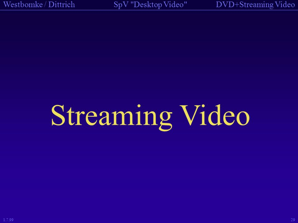 Streaming Video 1.7.99