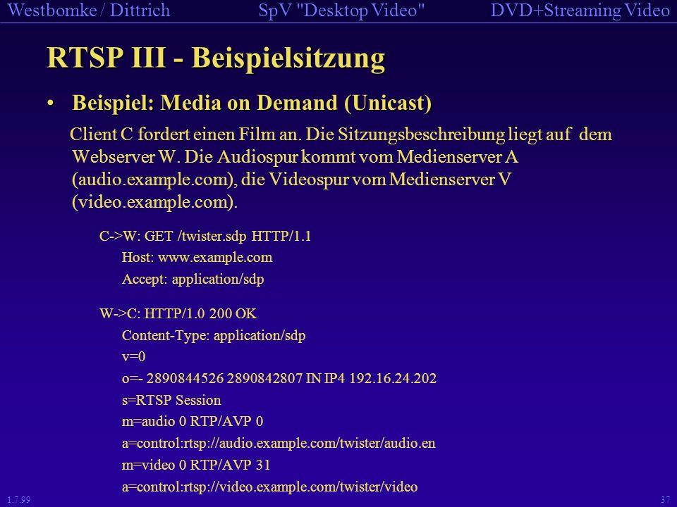 RTSP III - Beispielsitzung