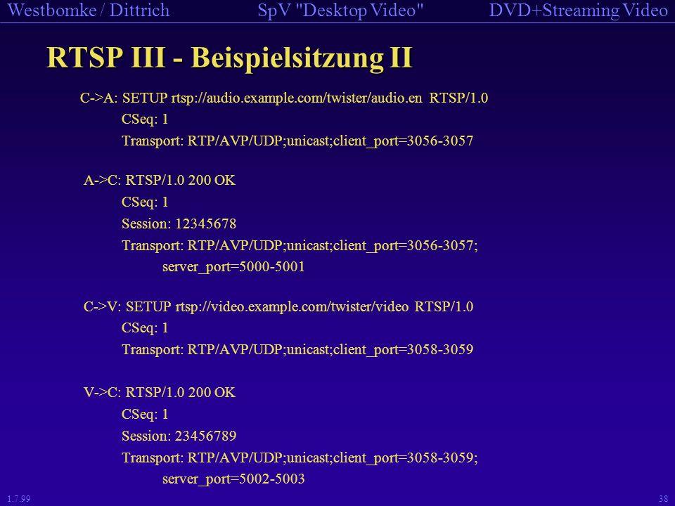 RTSP III - Beispielsitzung II