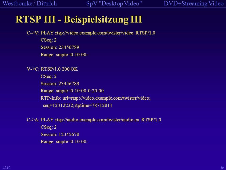 RTSP III - Beispielsitzung III