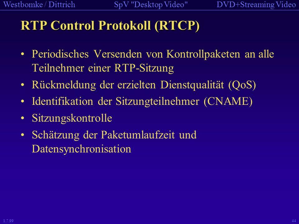RTP Control Protokoll (RTCP)