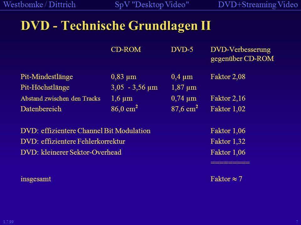 DVD - Technische Grundlagen II