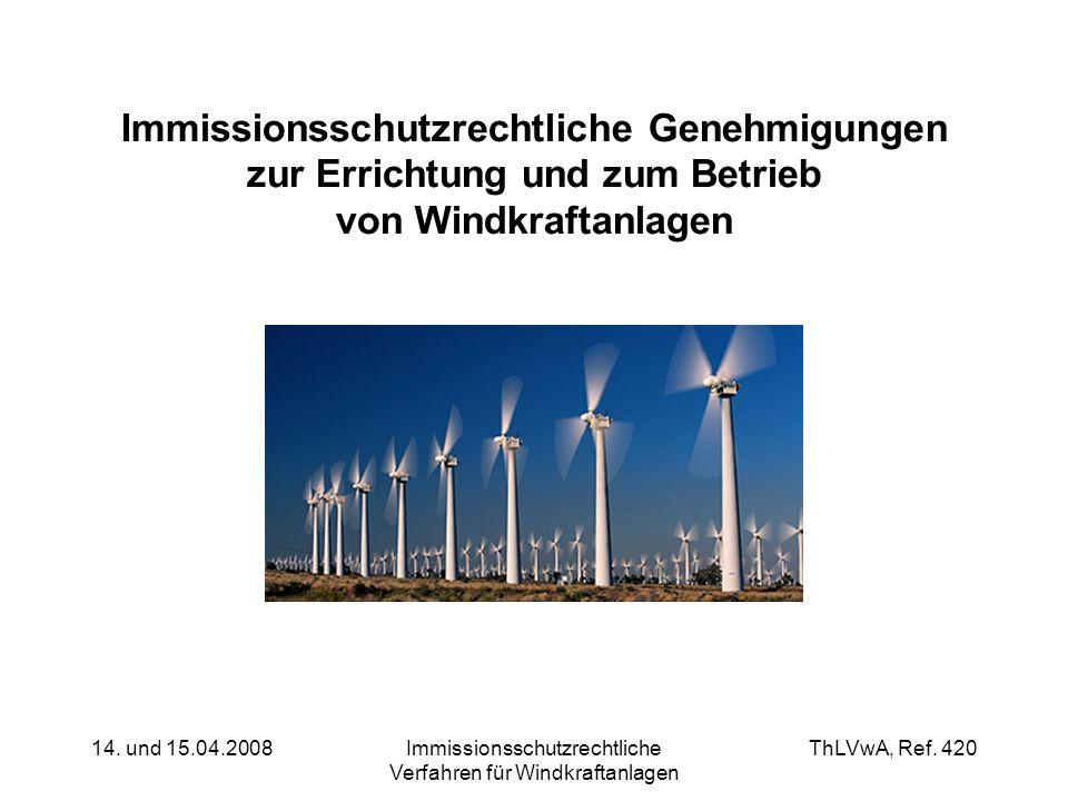 Immissionsschutzrechtliche Verfahren für Windkraftanlagen