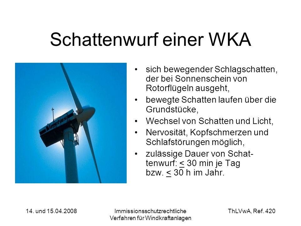 Schattenwurf einer WKA