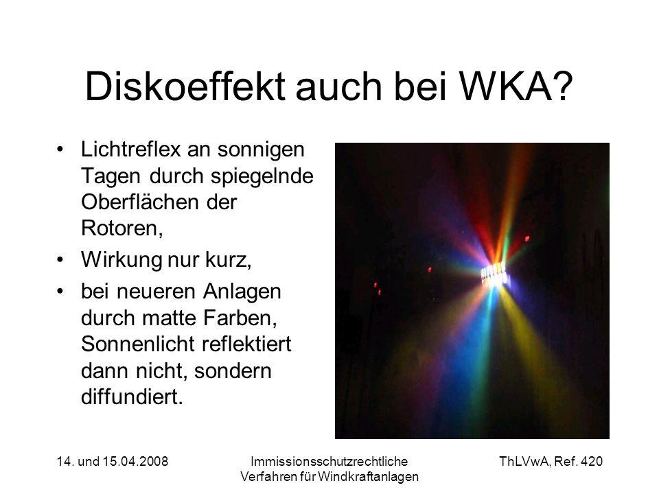 Diskoeffekt auch bei WKA