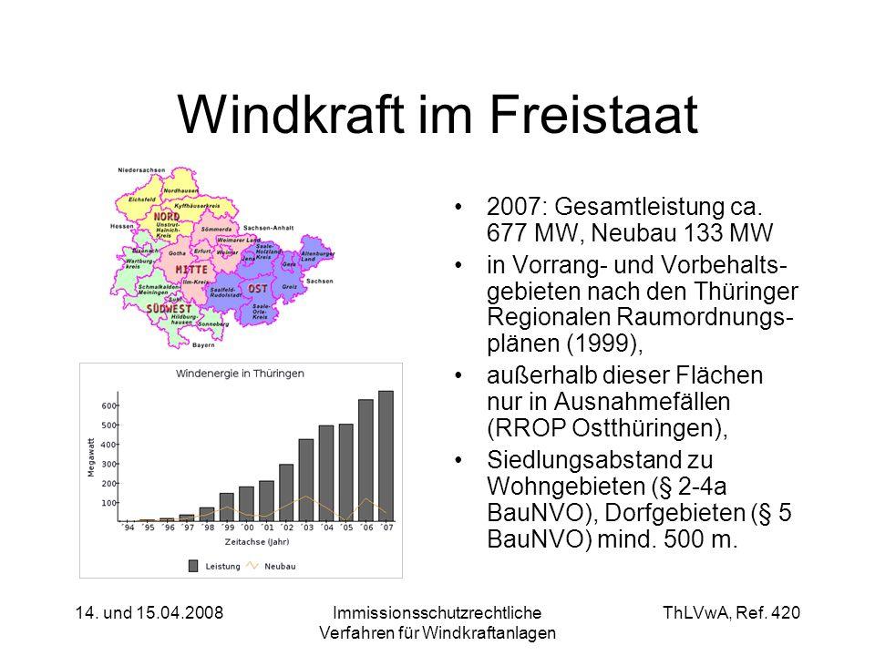 Windkraft im Freistaat