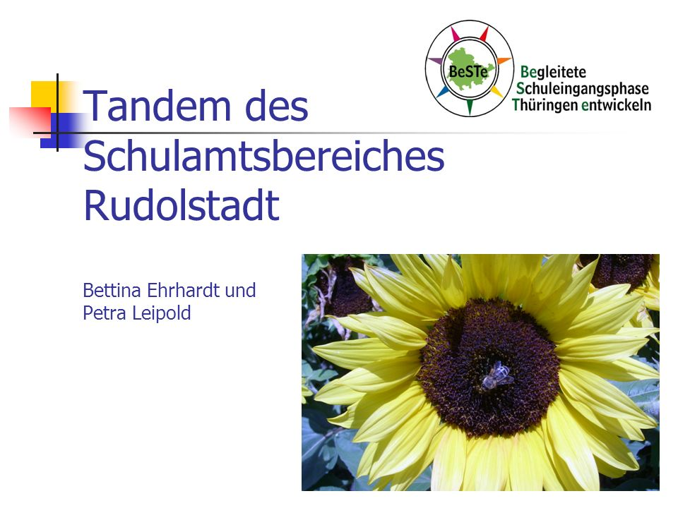 Tandem des Schulamtsbereiches Rudolstadt Bettina Ehrhardt und Petra Leipold