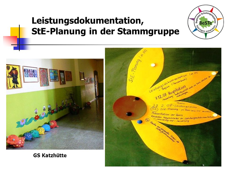 Leistungsdokumentation, StE-Planung in der Stammgruppe