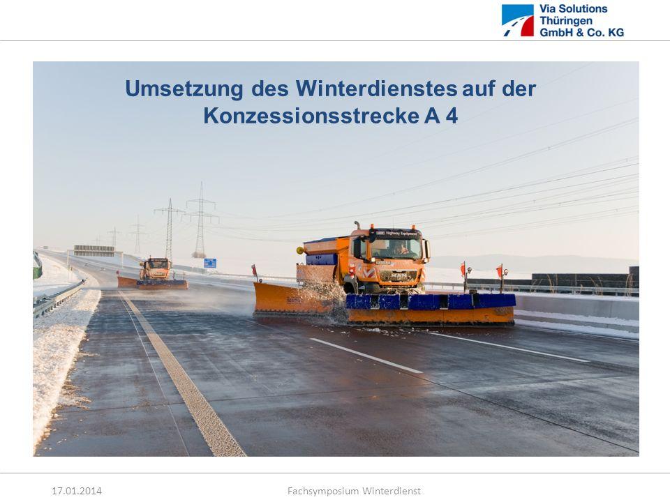 Umsetzung des Winterdienstes auf der Konzessionsstrecke A 4
