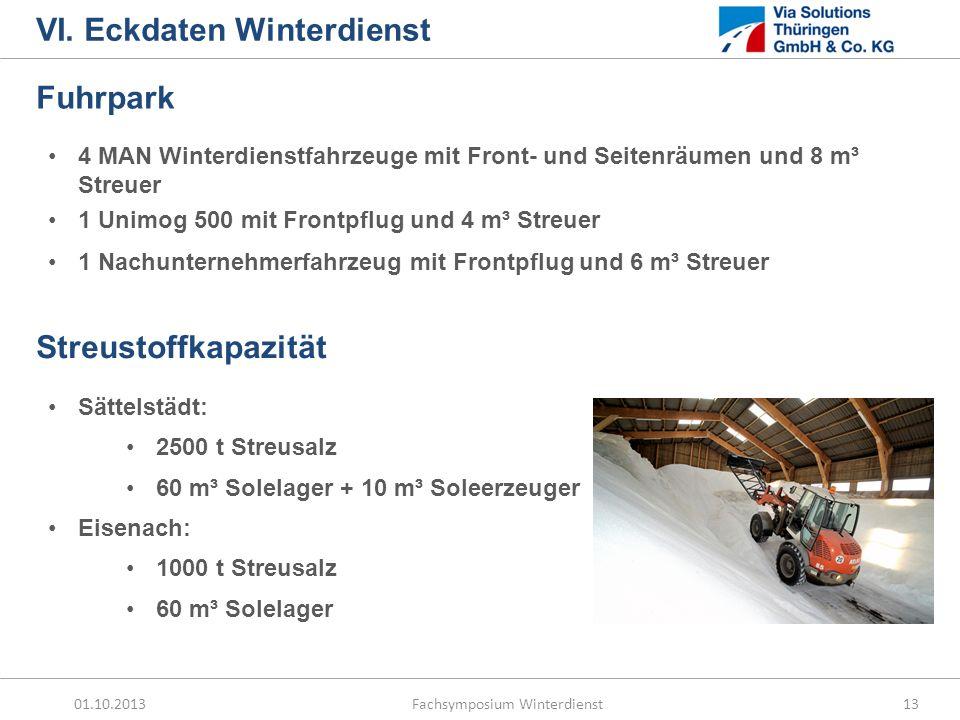 VI. Eckdaten Winterdienst