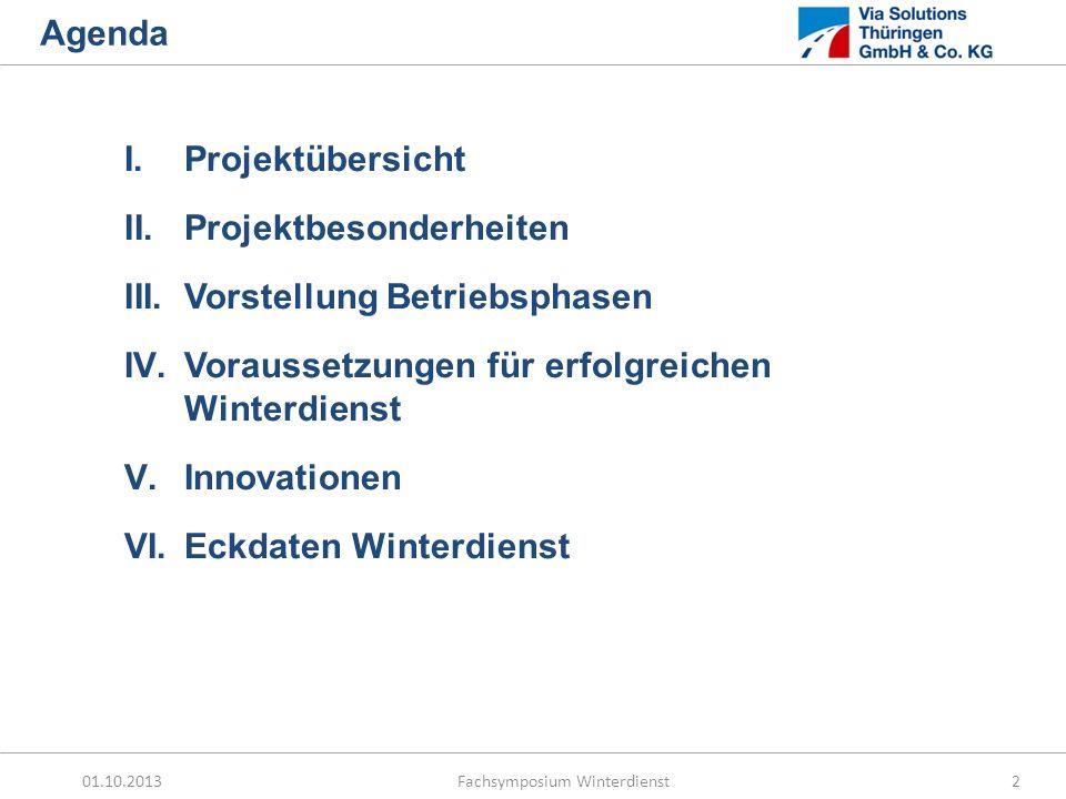 Agenda Projektübersicht. Projektbesonderheiten. Vorstellung Betriebsphasen. Voraussetzungen für erfolgreichen Winterdienst.