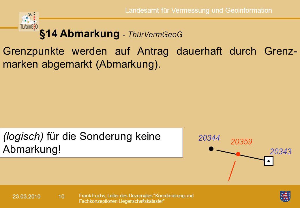 §14 Abmarkung - ThürVermGeoG