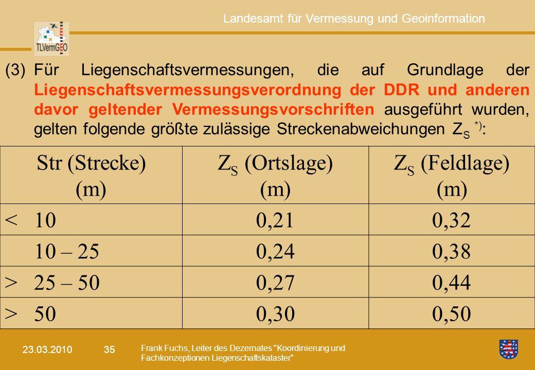 Str (Strecke) (m) ZS (Ortslage) ZS (Feldlage) < 10 0,21 0,32