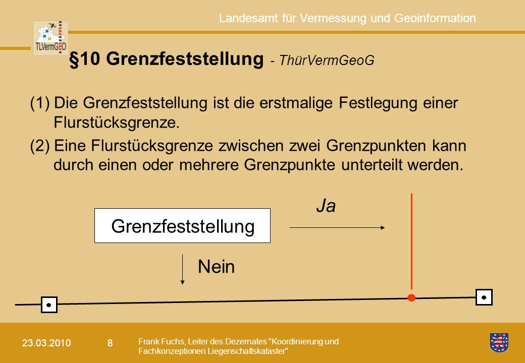 §10 Grenzfeststellung - ThürVermGeoG
