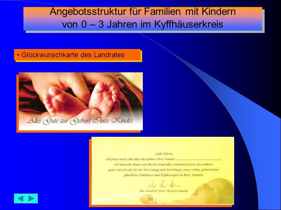 Angebotsstruktur für Familien mit Kindern
