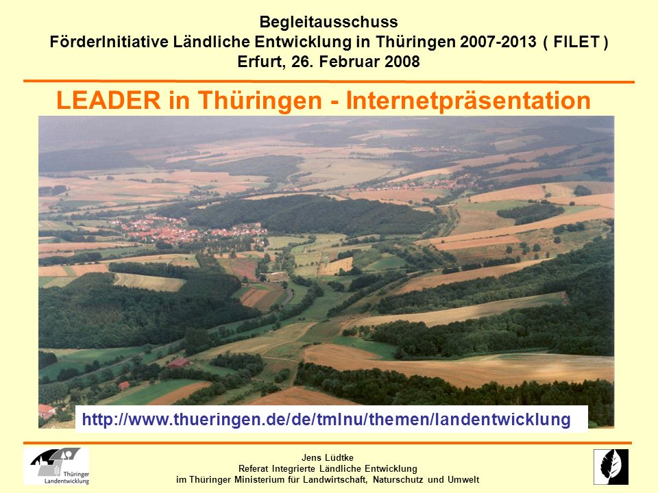 LEADER in Thüringen - Internetpräsentation
