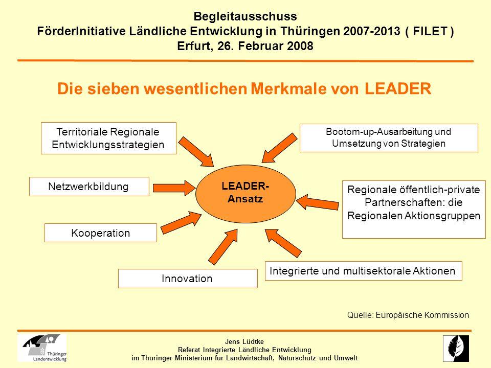 Die sieben wesentlichen Merkmale von LEADER