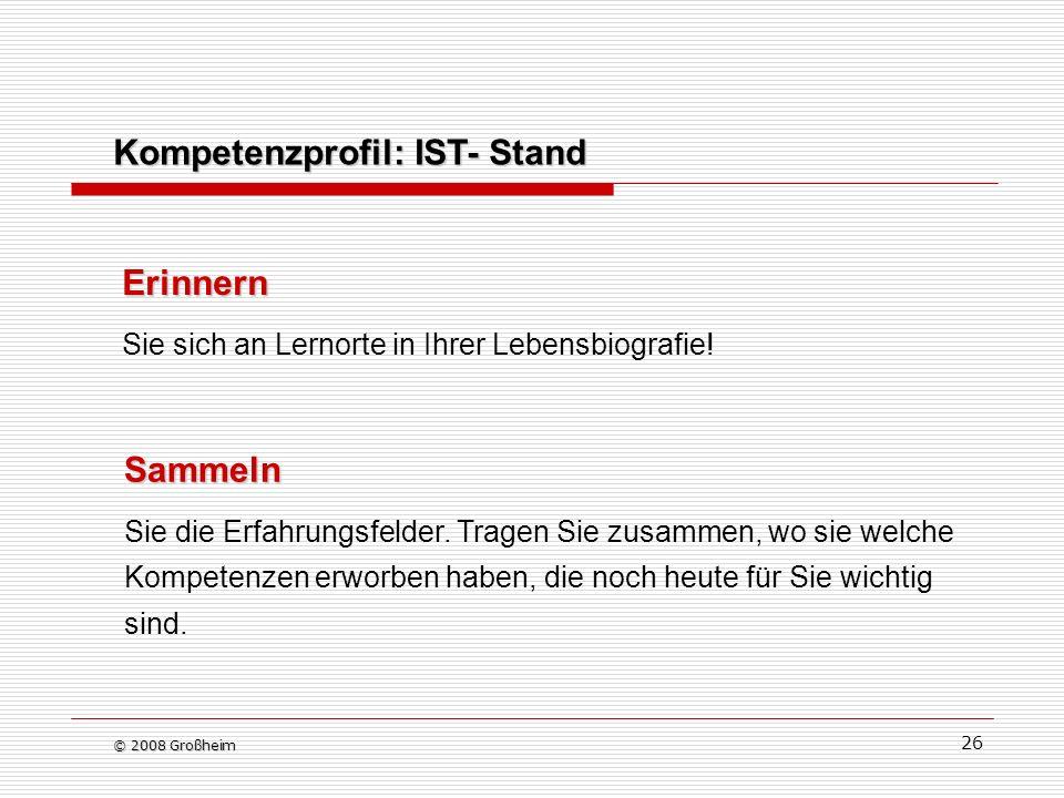 Kompetenzprofil: IST- Stand