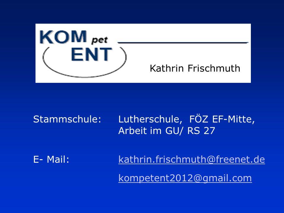 Stammschule: Lutherschule, FÖZ EF-Mitte,