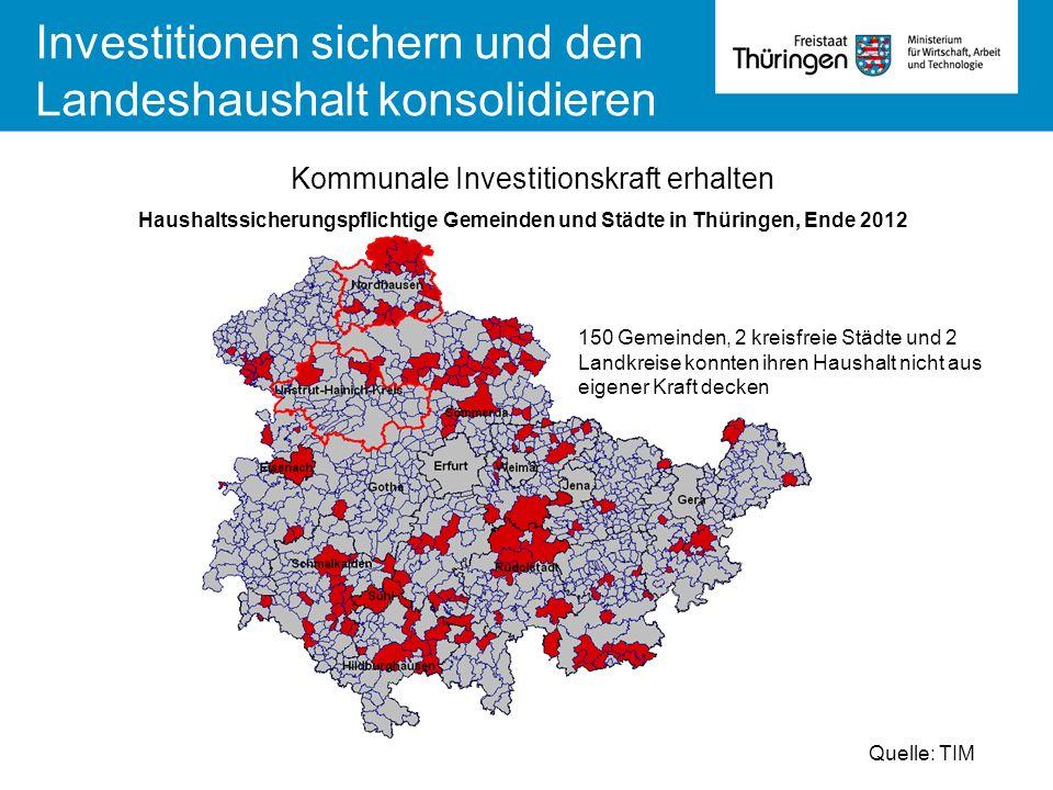Investitionen sichern und den Landeshaushalt konsolidieren