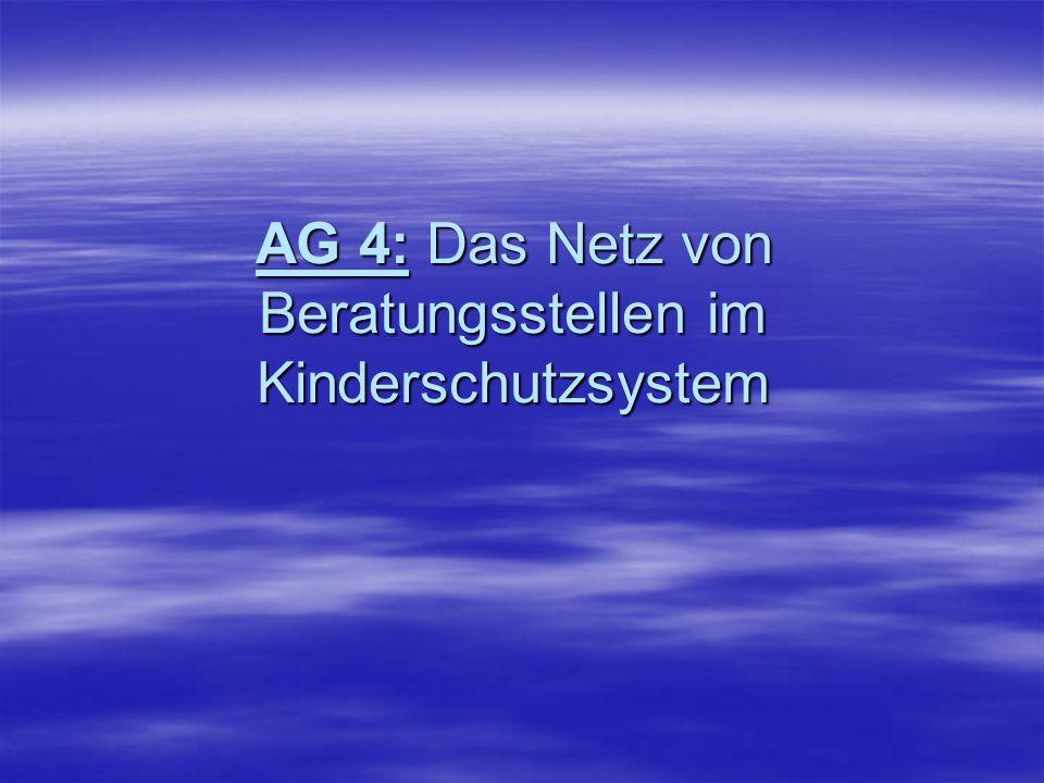 AG 4: Das Netz von Beratungsstellen im Kinderschutzsystem