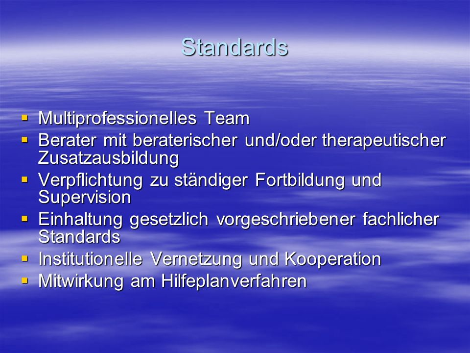 Standards Multiprofessionelles Team